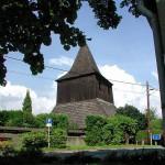 13-Dřevěná zvonice na hřbitově u kostela ze 17. století-dnes