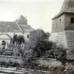 141-Pohled na zvonici a hřbitov - bez data