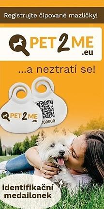 Pet2me - identifikační medailonky pro psy